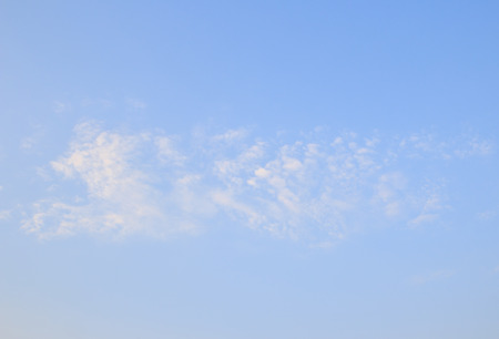 White clouds in the blue sky background Stock Photo