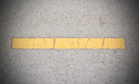 road surface: Road asphalt texture with yellow line Stock Photo