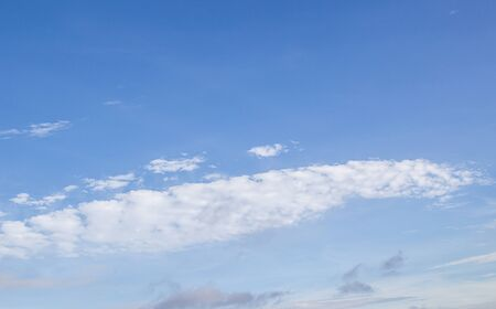 White clouds in the blue sky for any design Stock Photo - 41723615