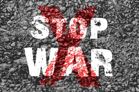 anti war: Text for Stop War on grunge background for any design