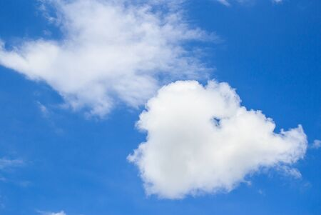 White clouds in the blue sky for any design Stock Photo - 44152529