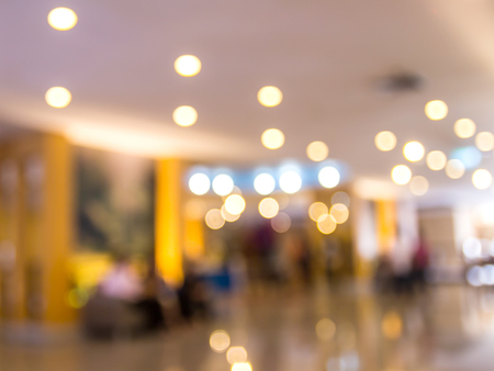 Image blurred of hotel lobby background for any design