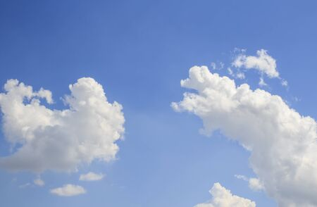 White clouds in the blue sky for any design Stock Photo - 49224392