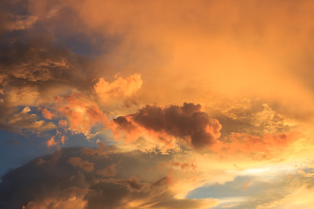 red sky: Fantastic red sunset and dark ominous clouds.Beautiful natural background and dramatic  blue cloudy sunset sky Stock Photo
