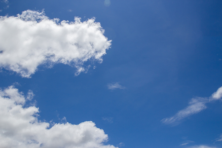 White cloud on blue sky background space for design Stock Photo