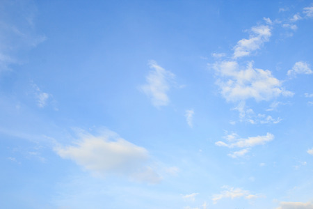 White cloud and blue sky background. space for design and template with some space for input text message
