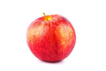 Close up fresh red apple isolated on a white Stok Fotoğraf