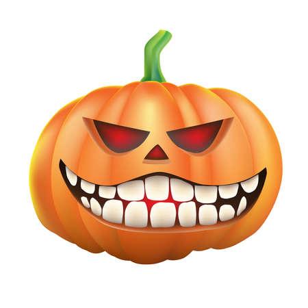 sneer: Pumpkin sneer on white background Illustration