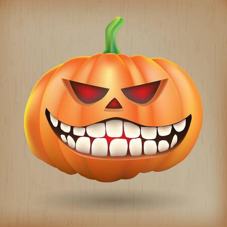 sneer: Sneer pumpkin vintage background Illustration