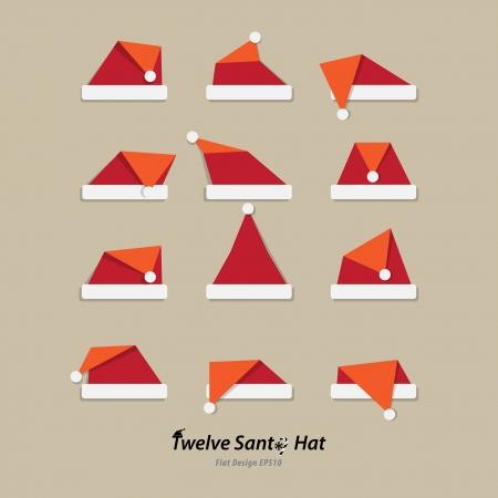 Santa hat Flach Symbol Standard-Bild - 24078062