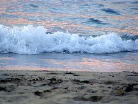 anochecer: La playa de Sayulita, Jalisco, México