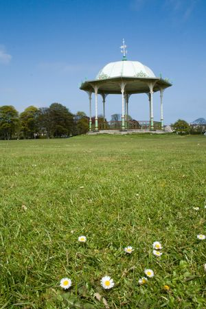 bandstand: Bandstand on a sunny day, low angle view
