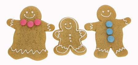 Gingerbread  isolated against a white background photo
