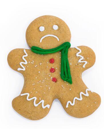 upset man: Sad gingerbread man