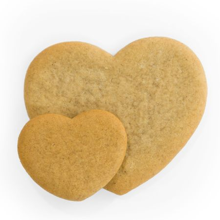 Heart shaped gingerbread cookies photo