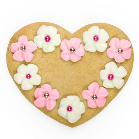 Heart shaped cookie photo
