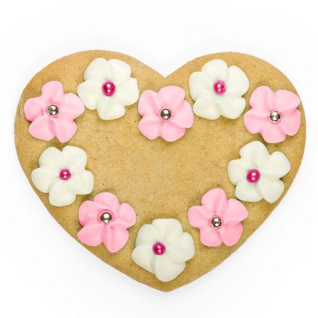 heart shaped: Heart shaped cookie