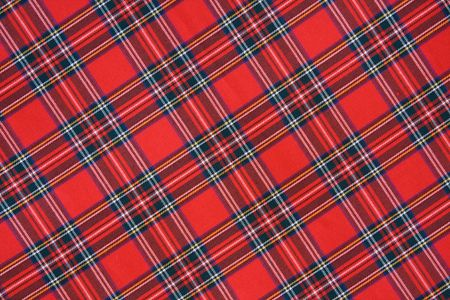 tartan plaid: Royal Stewart tartan Stock Photo