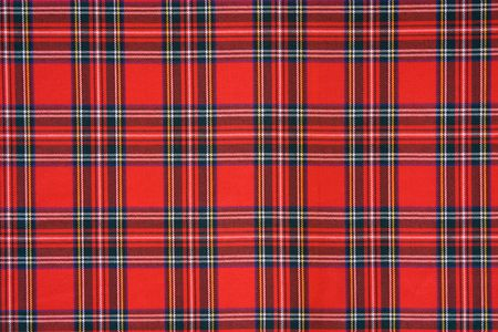 Royal Stewart tartan Stock Photo