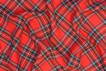 Royal Stewart tartan Stock Photo