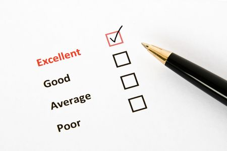 tickbox: Questionnaire Stock Photo