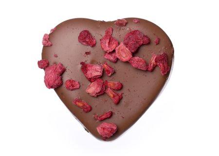 freeze dried: Forma de coraz�n de chocolate