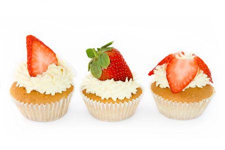 Strawberry cupcakes photo
