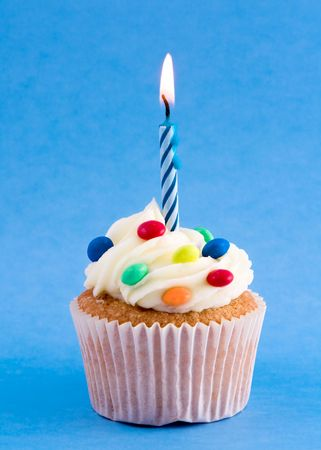 Birthday cupcake  Stock Photo - 4289449