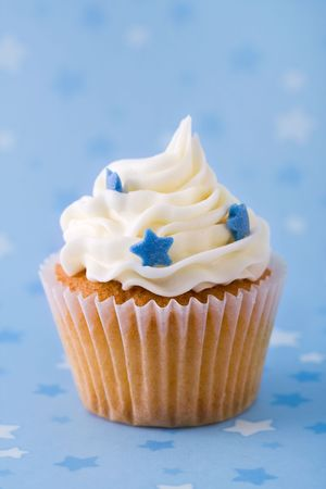 butter icing: Cupcake  Stock Photo