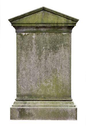 Lege graf steen, klaar voor een inscriptie