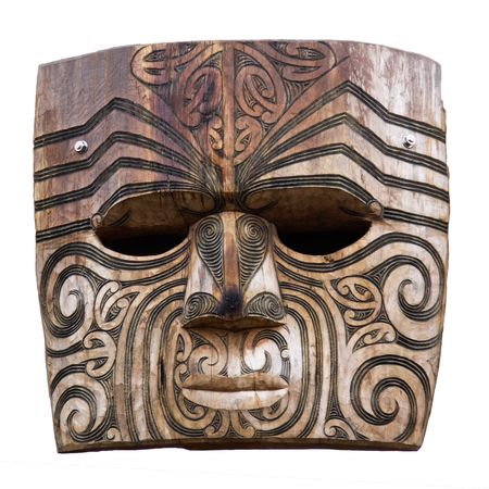 hand carved: Maori carving