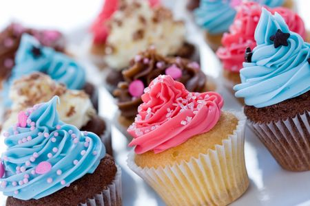 tilting: Cupcake assortment