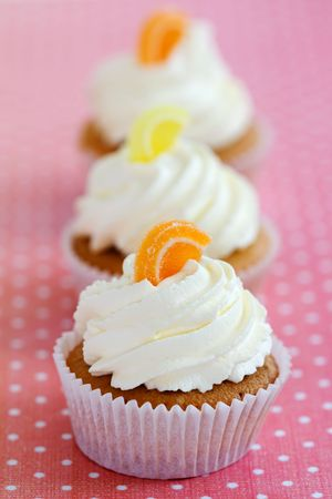 Orange and lemon cupcakes  Stock Photo - 4828605