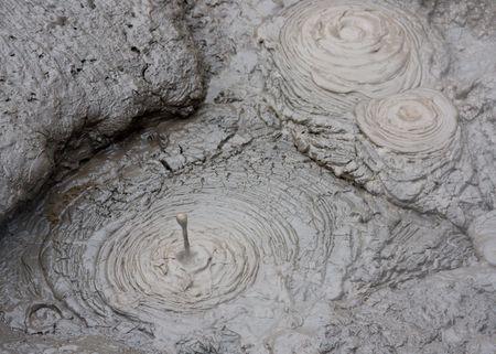 Boiling mud taken at thermal pools near Rotorua, New Zealand photo