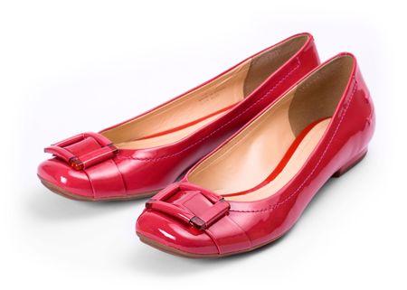 Brillantes zapatos rojos Foto de archivo