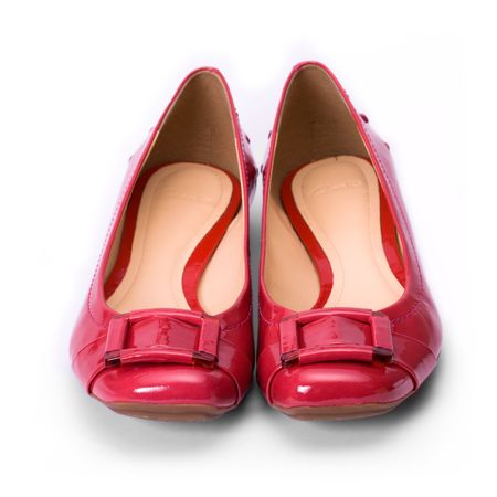 womens: Shiny red shoes