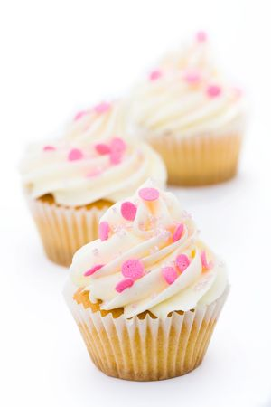 Pink and white cupcakes Stock Photo - 4923251