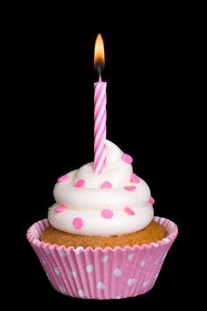 Spotty pink cupcake