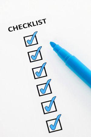 Blue checklist photo