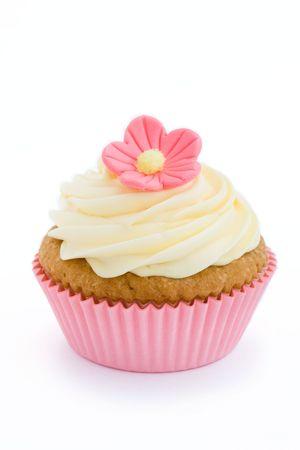 Pink cupcake  photo