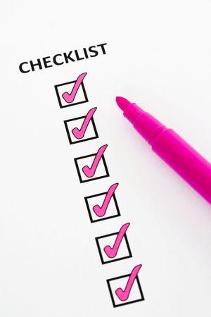 Pink checklist Stock Photo - 5060725