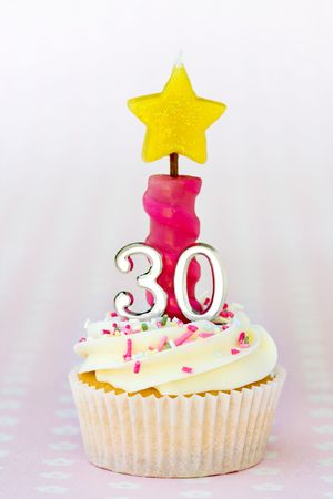 Mini thirtieth birthday cake  Stock Photo