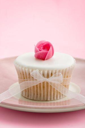 Cupcake Rosebud Foto de archivo