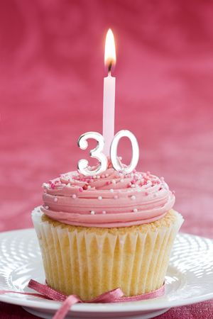 Mini thirtieth birthday cake Stock Photo - 5396543