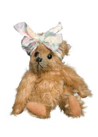 playthings: Antique teddy bear Stock Photo
