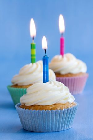 Birthday cupcakes Stock Photo - 5466071