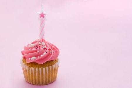 Cumpleaños de mini-cupcake  Foto de archivo - 5520106