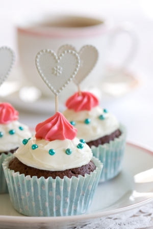 valentine day cup of coffee: Cupcakes