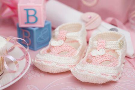 Zapatitos de beb� Foto de archivo