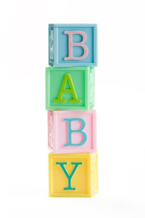 Baby building blocks Stock Photo